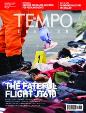 Cover Majalah TEMPO ENGLISH ED 1624 06-12 November 2018