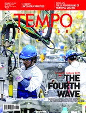 Cover Majalah TEMPO ENGLISH ED 1625 13-19 November 2018