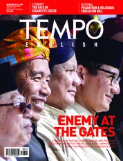Cover Majalah TEMPO ENGLISH ED 1626 20-26 November 2018