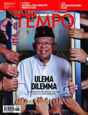 Cover Majalah TEMPO ENGLISH ED 1630 18-24 Desember 2018