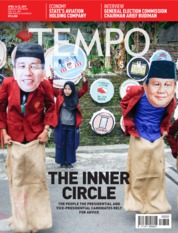 Cover Majalah TEMPO ENGLISH ED 1647 16-22 April 2019