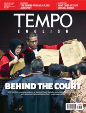 Cover Majalah TEMPO ENGLISH ED 1655 25-01 Juli 2019