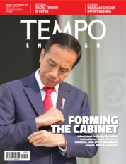 Cover Majalah TEMPO ENGLISH ED 1664 27-02 September 2019
