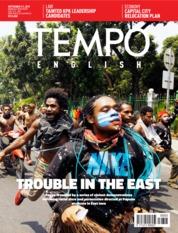 Cover Majalah TEMPO ENGLISH ED 1665 03-09 September 2019