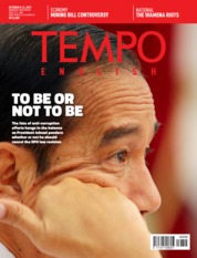 Cover Majalah TEMPO ENGLISH ED 1670 08-14 Oktober 2019