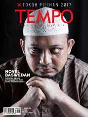 Cover Majalah TEMPO ED 4453 / 01–07 JAN 2018 ED 4453 01–07 Januari 2018