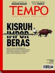Cover Majalah TEMPO ED 4456 / 22–28 JAN 2018 ED 4456 22–28 Januari 2018