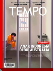 Cover Majalah TEMPO ED 4489 10-16 September 2018