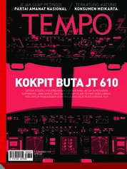 Cover Majalah TEMPO ED 4497/ 05-11 NOV 2018 05-11 November 2018