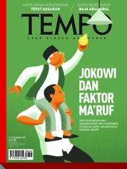 Cover Majalah TEMPO ED 4503 17-23 Desember 2018