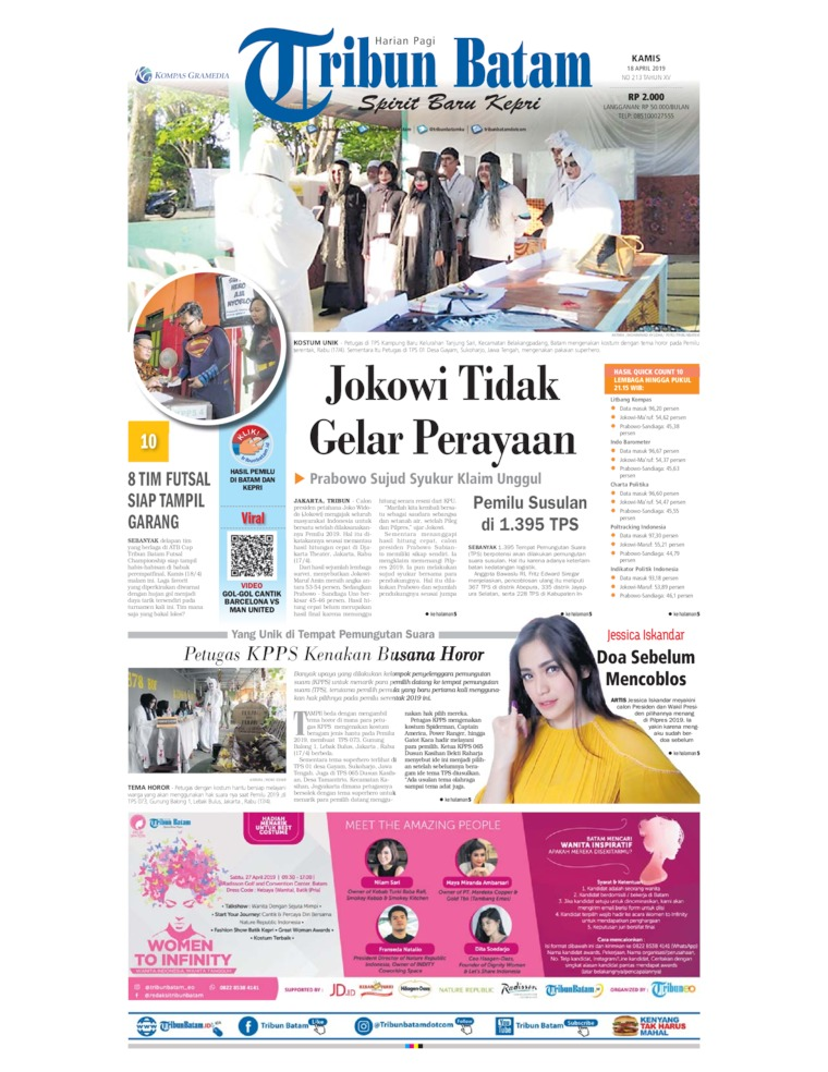 Tribun Batam Digital Newspaper 18 April 2019