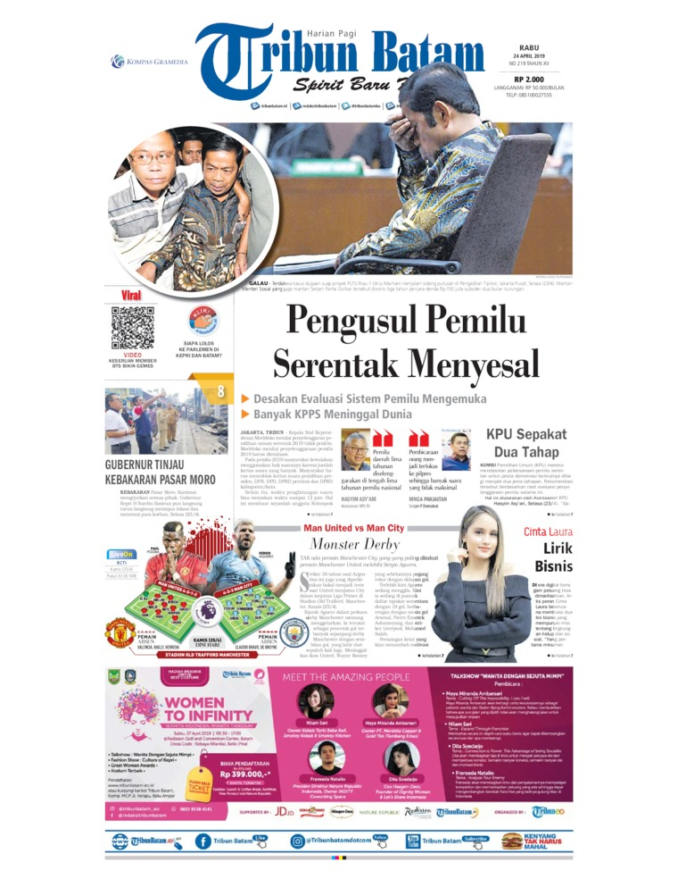 Tribun Batam Digital Newspaper 24 April 2019