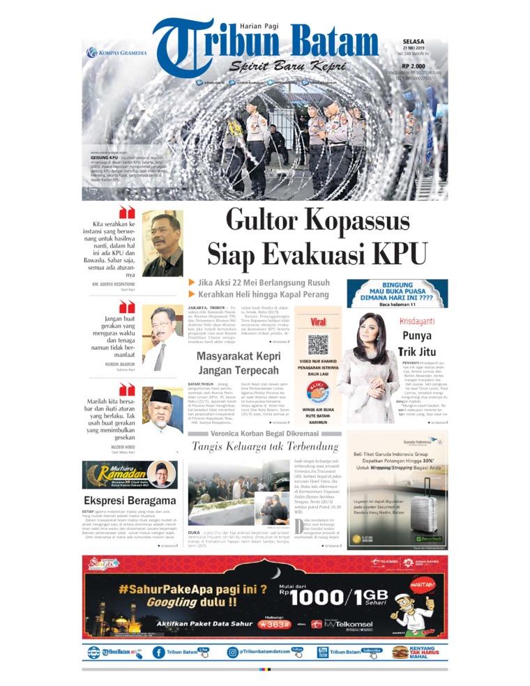 Tribun Batam Digital Newspaper 21 May 2019