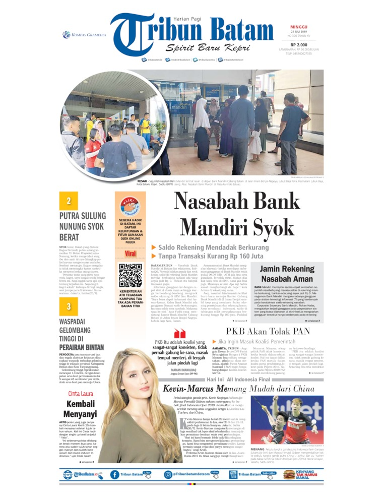 Tribun Batam Digital Newspaper 21 July 2019