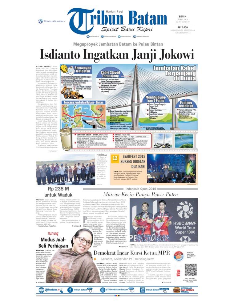 Tribun Batam Digital Newspaper 22 July 2019