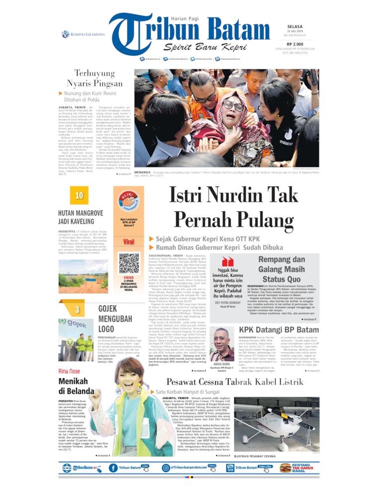 Koran Digital Tribun Batam 23 Juli 2019