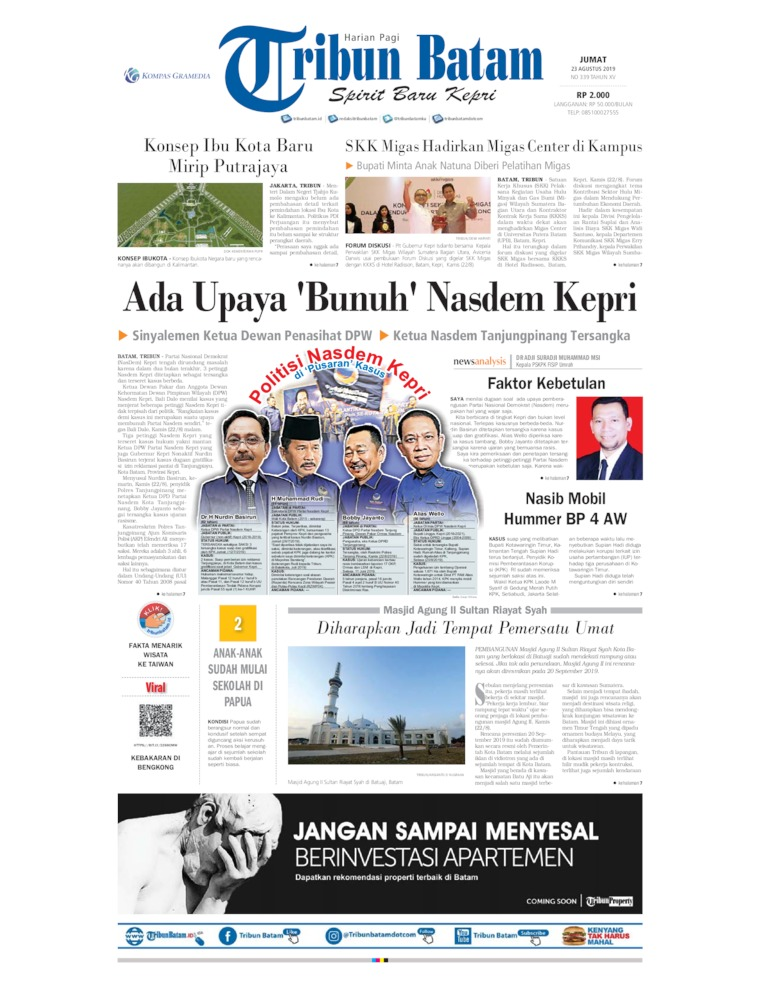 Tribun Batam Digital Newspaper 23 August 2019