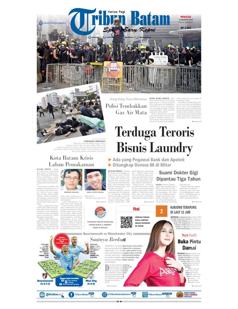 Tribun Batam Digital Newspaper 25 August 2019