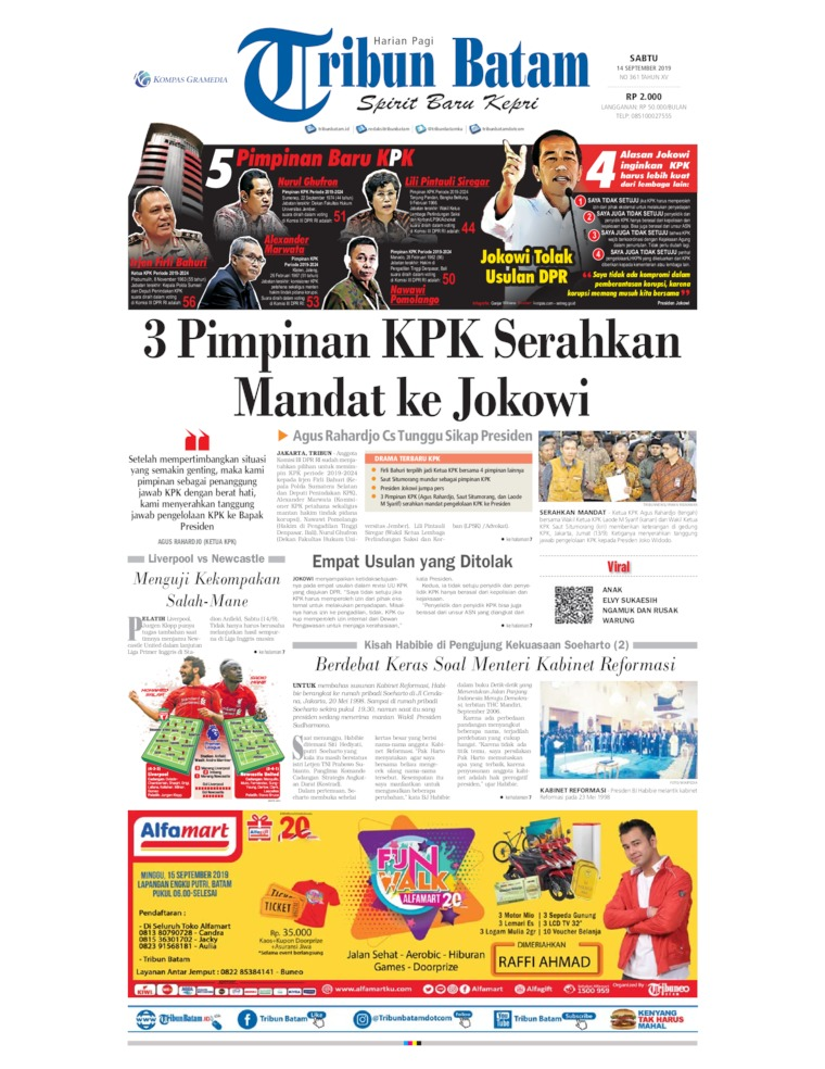 Koran Digital Tribun Batam 14 September 2019
