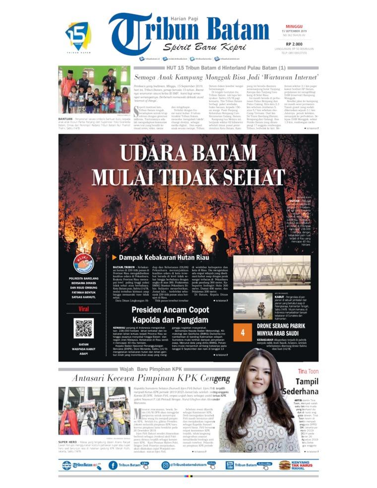 Koran Digital Tribun Batam 15 September 2019