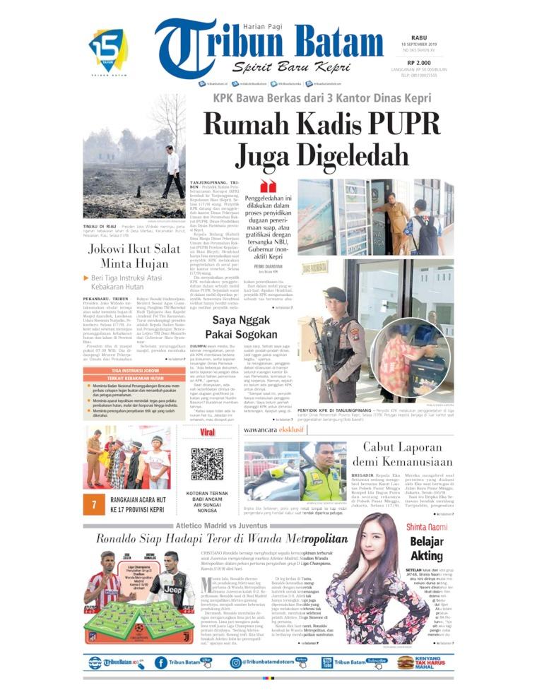 Koran Digital Tribun Batam 18 September 2019