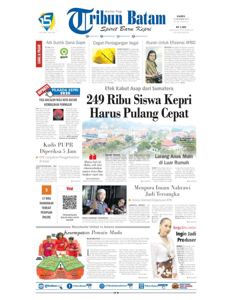 Koran Digital Tribun Batam 19 September 2019
