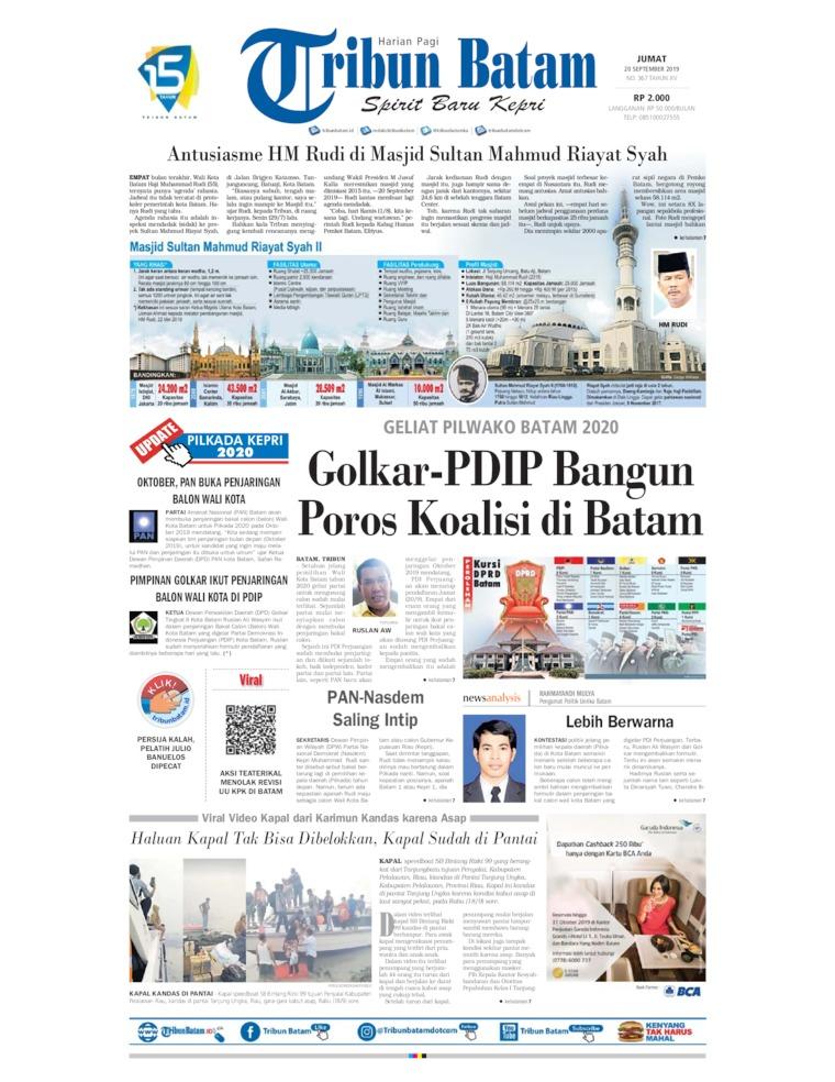 Koran Digital Tribun Batam 20 September 2019