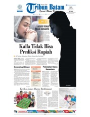 Cover Tribun Batam 25 April 2018