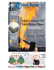 Cover Tribun Batam 26 April 2018