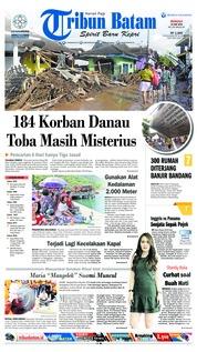 Cover Tribun Batam 24 Juni 2018