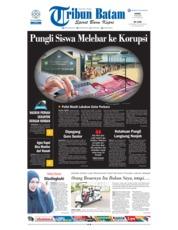 Cover Tribun Batam 19 Juli 2018