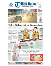 Cover Tribun Batam 26 September 2018