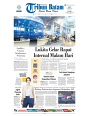 Cover Tribun Batam 14 Desember 2018