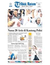Cover Tribun Batam 22 Januari 2019