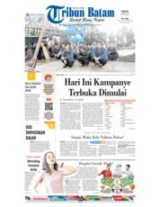 Cover Tribun Batam 24 Maret 2019