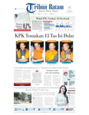 Tribun Batam Cover 13 July 2019