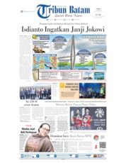 Tribun Batam Cover 22 July 2019