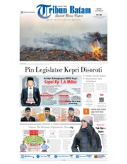 Tribun Batam Cover 10 September 2019