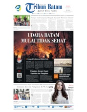 Tribun Batam Cover 15 September 2019