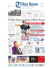 Cover Tribun Batam 07 Oktober 2019