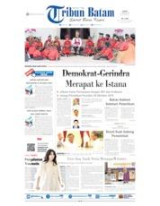 Cover Tribun Batam 12 Oktober 2019