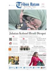 Cover Tribun Batam 13 Oktober 2019