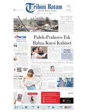 Cover Tribun Batam 14 Oktober 2019