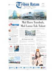 Cover Tribun Batam 15 Oktober 2019