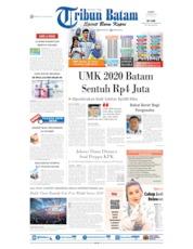 Cover Tribun Batam 17 Oktober 2019
