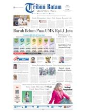 Cover Tribun Batam 18 Oktober 2019