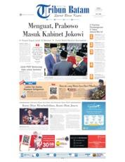 Cover Tribun Batam 21 Oktober 2019