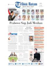 Cover Tribun Batam 22 Oktober 2019