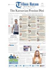Cover Tribun Batam 23 Oktober 2019