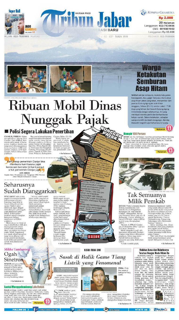 Koran Digital Tribun Jabar 22 November 2017